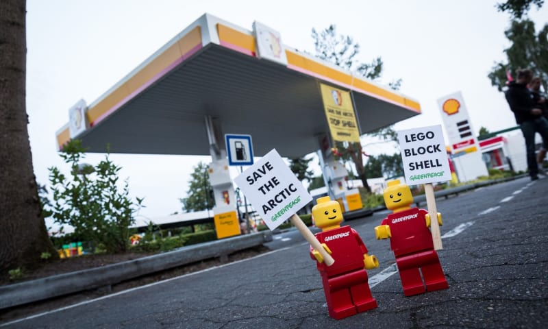 Lego ended its brand partnership with Shell